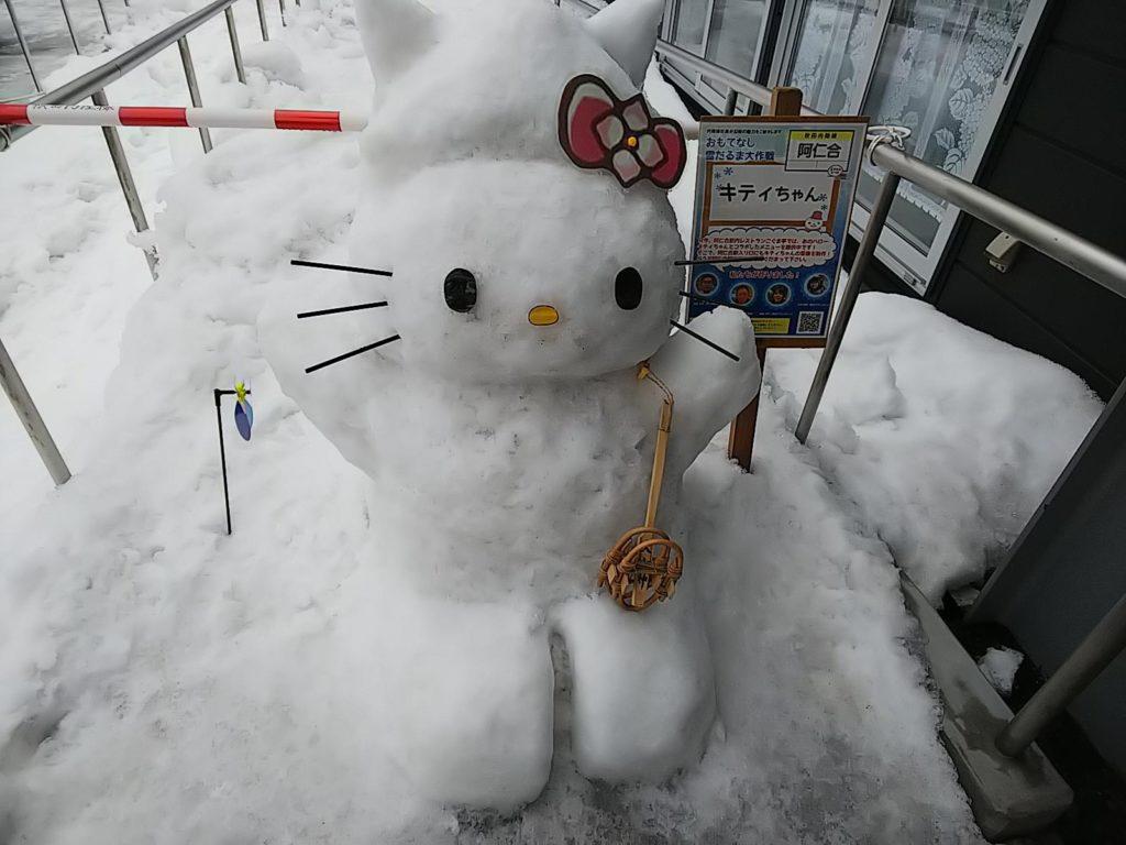 キティちゃんの雪だるま