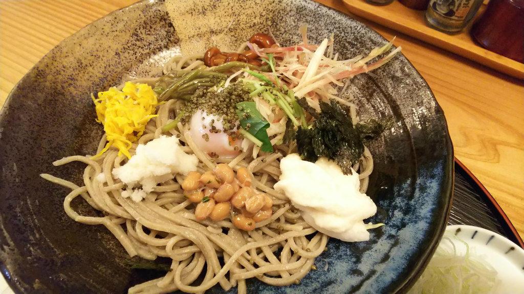 秋田のぶっかけ蕎麦
