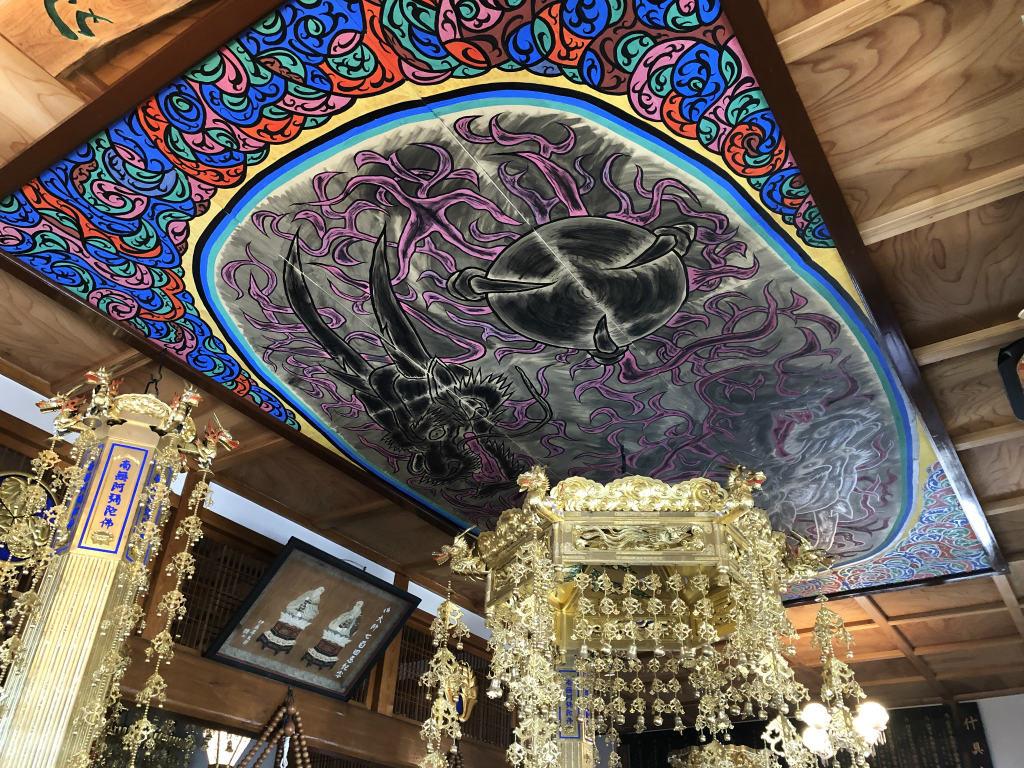 増上寺 龍の天井絵